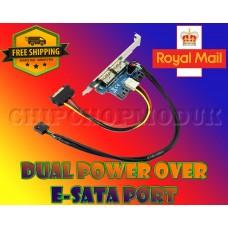 DUAL Power Over ESATA 12V+5V Expansion Card